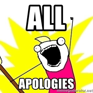X ALL THE THINGS - all apologies