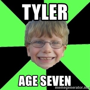Funny Stupid - TYLER  AGE SEVEN