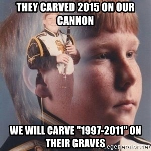 """PTSD Clarinet Boy - they carved 2015 on our cannon we will carve """"1997-2011"""" on their graves"""