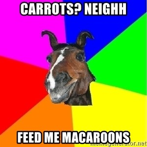 SuperHorseAnton - CARROTS? NEIGHH FEED ME MACAROONS