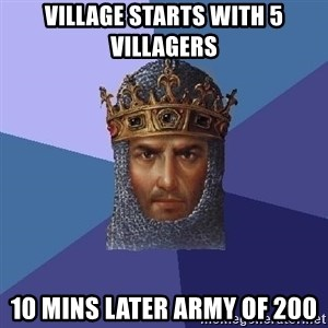 Age Of Empires - vILLAGE STARTS WITH 5 VILLAGERS 10 MINS LATER ARMY OF 200