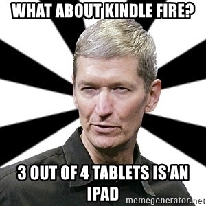 Tim Cook Time - What about Kindle Fire? 3 out of 4 tablets is an iPad
