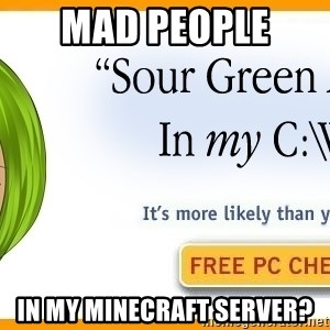 X In My Y - Mad people  in my minecraft server?