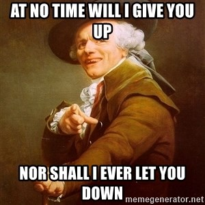 Joseph Ducreux - At No time Will I Give you up Nor shall i ever let you down