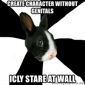 Roleplaying Rabbit - create character without genitals icly stare at wall