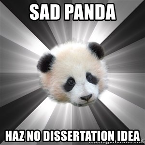 Regretting panda - sad panda haz no dissertation idea