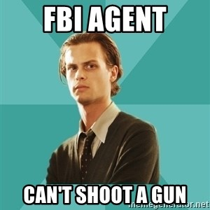 spencer reid - fbi agent can't shoot a gun