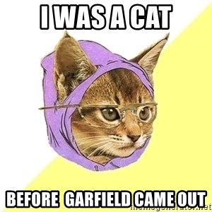 Hipster Kitty - I was a Cat before  Garfield came out