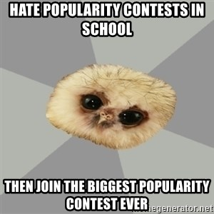 deviantArt Owl - Hate POPULARITY Contests In School  Then join the biggest popularity contest ever