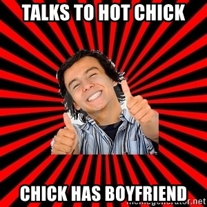 Bad Luck Chuck - talks to hot chick chick has boyfriend