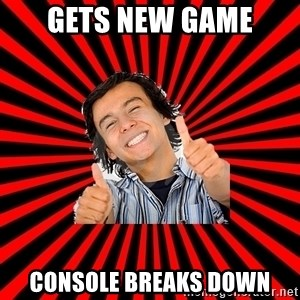 Bad Luck Chuck - Gets new game Console breaks down