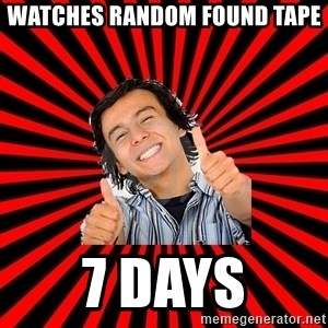 Bad Luck Chuck - watches random found tape 7 days
