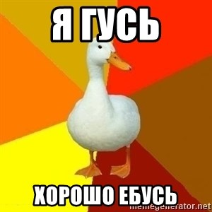 Technologically Impaired Duck - я гусь хорошо ебусь