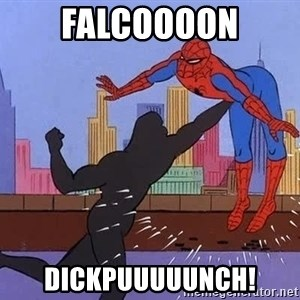 crotch punch spiderman - falcoooon dickpuuuuunch!