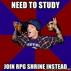 Sunny Student - Need TO STUDY JOIN RPG SHRINE INSTEAD