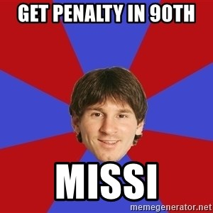 Messiya - get penalty in 90th  missi