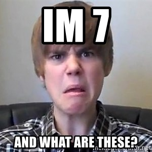 Justin Bieber 213 - im 7 and what are these?