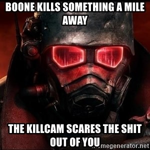Fallout  - Boone Kills Something a Mile Away the Killcam Scares the shit out of you