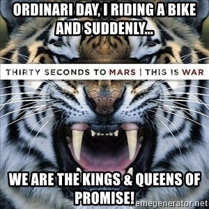 paranoid member of echelon - Ordinari day, I riding a bike and suddenly... We are the kings & queens of promise!