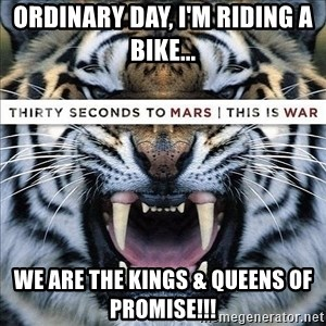 paranoid member of echelon - ordinary day, I'm riding a bike... we are the kings & queens of promise!!!