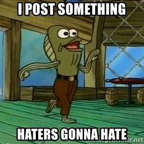 Haters Gonna Hate - i post something haters gonna hate