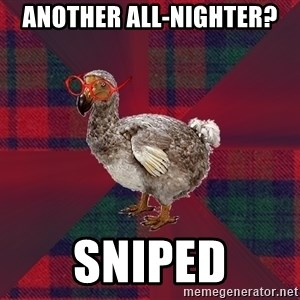 DP Dodo Bird - Another All-Nighter? Sniped