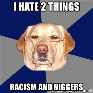 Racist Dog - i hate 2 things racism and niggers