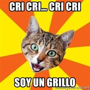 Bad Advice Cat - Cri cri... cri cri soy un grillo