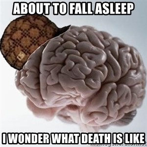 Scumbag Brain - About to fall Asleep I wonder what death is like