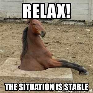 Hole Horse - relax! the situation is stable