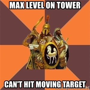 Age of Empires '97 - max level on tower can't hit moving target