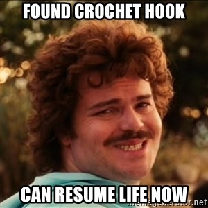 I SMILE - found crochet hook can resume life now