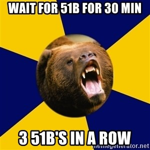 Berkeley Student Bear - Wait for 51B for 30 Min 3 51B's in a row