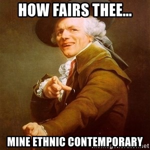 Joseph Ducreux - How fairs thee... Mine Ethnic contemporary