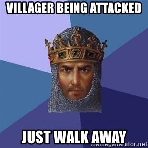 Age Of Empires - VILLAGER BEING ATTACKED JUST WALK AWAY