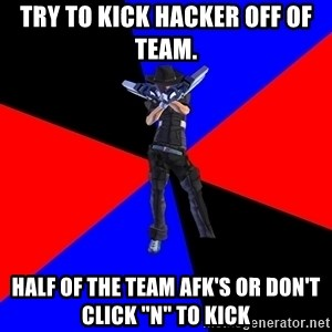 """S4Player - Try to kick hacker off of team. half of the team afk's or don't click """"n"""" to kick"""