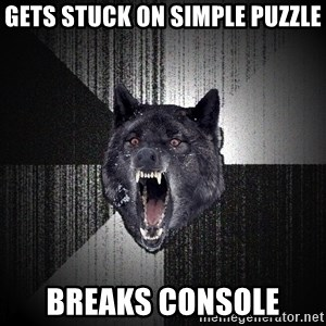Insanity Wolf - Gets stuck on simple puzzle breaks console
