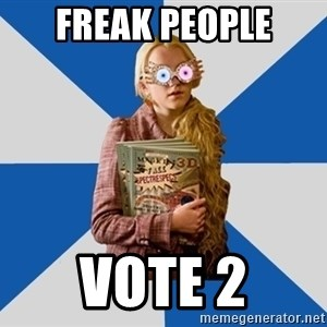 "Luna ""Loony"" Lovegood - freak people vote 2"