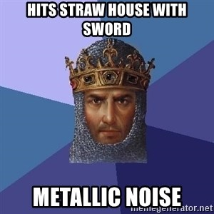 Age Of Empires - hits straw house with sword Metallic noise