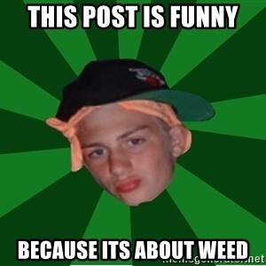 Stonerbro - this post is funny because its about weed