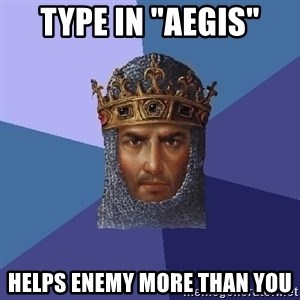 """Age Of Empires - type in """"Aegis"""" Helps enemy more than you"""