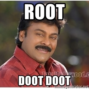 Typical Indian guy - root doot doot