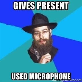 Barry The Jew - Gives Present used microphone