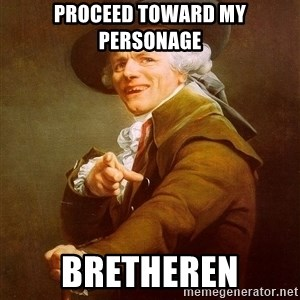 Joseph Ducreux - PROCEED TOWARD MY PERSONAGE bretheren