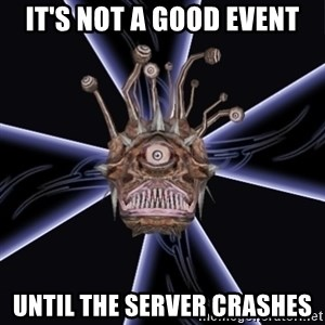 Neverwinter Nights RP Beholder - It's not a good event until the server crashes