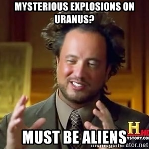 Giorgio A Tsoukalos Hair - Mysterious explosions on Uranus? Must be aliens