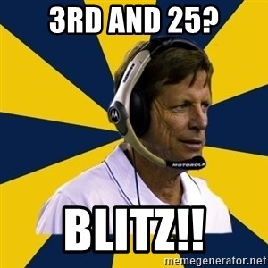 Idiot Football Coach - 3rd and 25? BLITZ!!