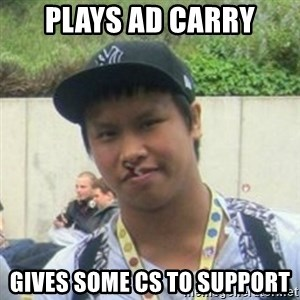 Good Guy Reginald - PLays AD carry gives some cs to support