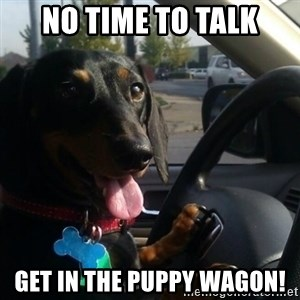 puppycop - No time to talk Get in the puppy wagon!
