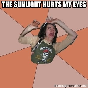 Scared Bekett - THE SUNLIGHT HURTS MY EYES